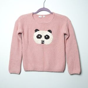 Gap | Sequined Panda Braided Sweater L/10